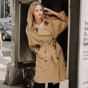 Lartigent Oversized Trench Coat Indipink